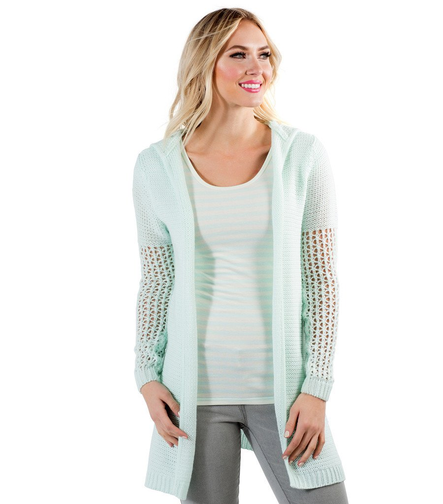 Cardigan Open Knit Sweater